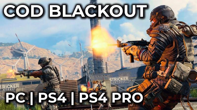 CoD Blackout – PC vs. PS4 vs. PS4 Pro Graphics Comparison Call of Duty Black Ops 4 Beta