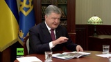 Hilfe, die Russen kommen Poroschenko bef