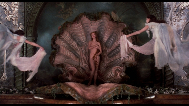 Ума Турман – Рождение Венеры Сандро Боттичелли (Приключения барона Мюнхгаузена)