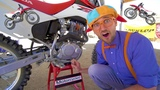 Blippi Rides a Motorcycle Dirt Bikes for Children