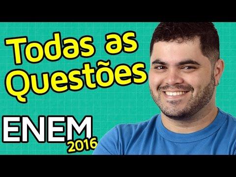 🚨 TODAS AS QUESTÕES DE MATEMÁTICA DO ENEM 2016 RESOLVIDAS Matemática Rio