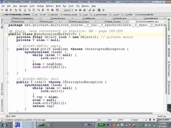 GolovachCourses Java Multithreading 07.08.2014 Lecture 14. java.util.concurrent