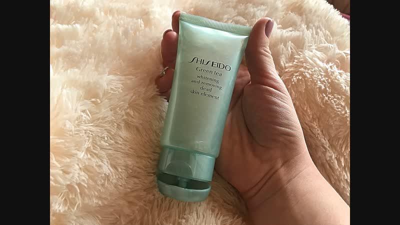 Пилинг скатка Shiseido green tea