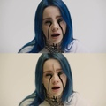 """billie eilish on Instagram: """"side by side 😋 bottom is no fx whatsoever top is final cut 🤑 incase you didnt believe it"""""""