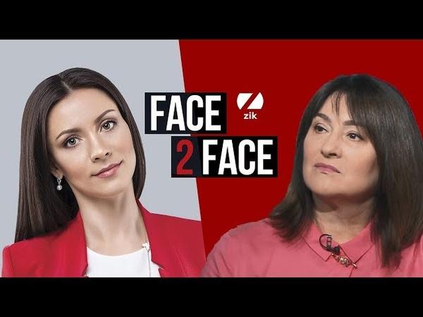 Ольга Герасим'юк перший заступник голови Нацради з питань ТБ та радіо у програмі FACE 2 FACE