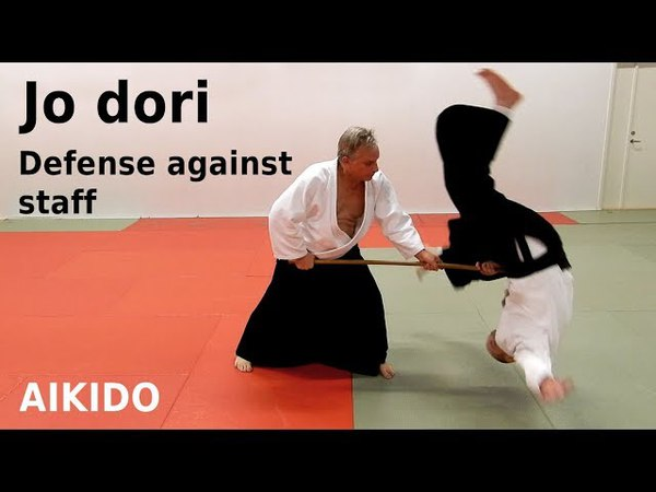 Aikido techniques against jo (staff) attacks, JO DORI, by Stefan Stenudd, 7 dan Aikikai shihan