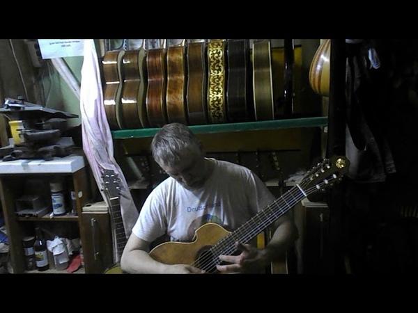 Семиструнная гитара Антон Хорин модель Краснощеков