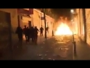 Spanien Negeraufstand in Madrid Brennende Straßen verletzte Polizisten