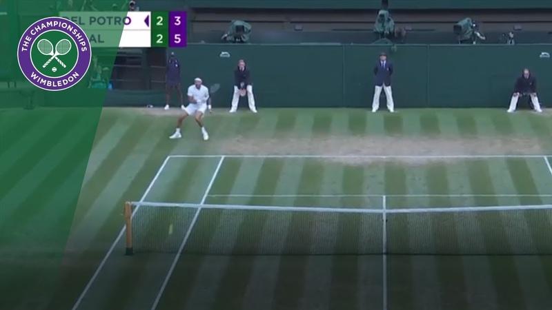 107 mph Juan Martin Del Potro forehand!   Wimbledon 2018