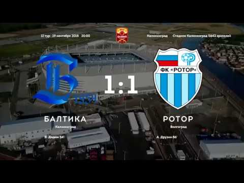 Балтика - Ротор 1:1 Обзор матча Чемпионата ФНЛ 2018/2019. 12-й тур.