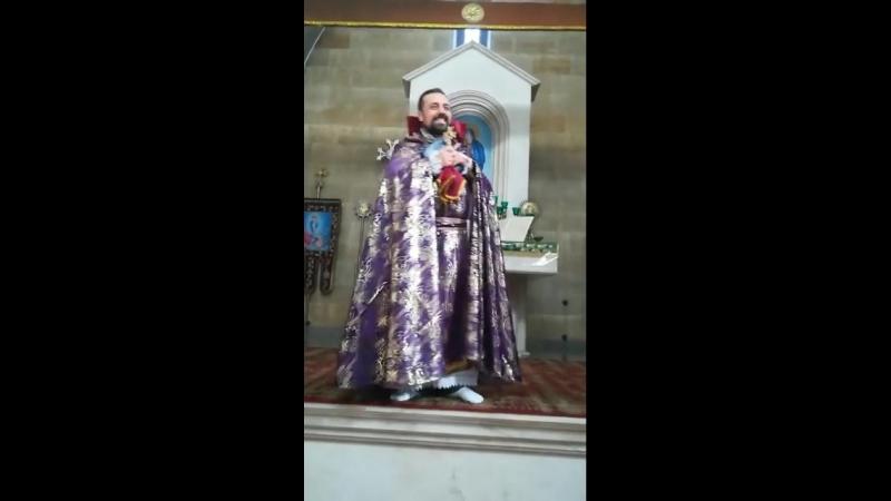 07.10.2018. ААЦ Сурб Аменапркич, проповедь настоятеля церкви иерея Себеоса Галачана