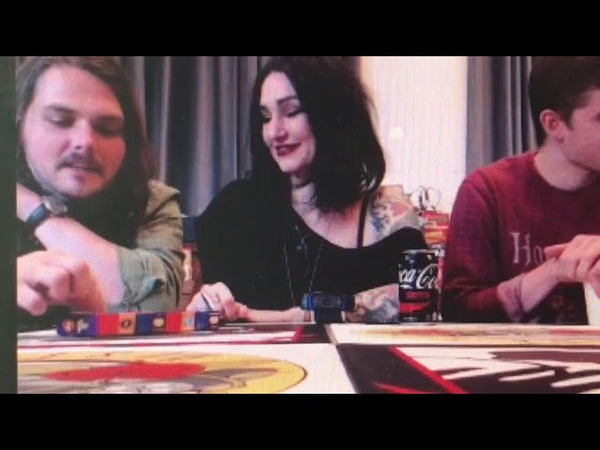 Gerard and Lynz doing the bean boozled challenge.