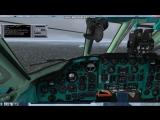 Посадка Ту-134 в Мурманске FSX