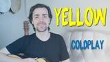 Yellow Guitar Tutorial Coldplay - No Capo, Easy Guitar Lesson