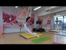 Попова Софья 9 лет начинающие Первый чемпионат Еврофитнес по воздушной гимнастике