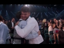 Bts hugging the chainsmokers after they won their award
