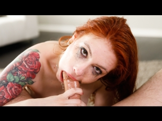 Anna de ville - anna's throating spit fest (facial, blowjob, deepthroat, saliva, face fuck, pov, redhead, tattooed)