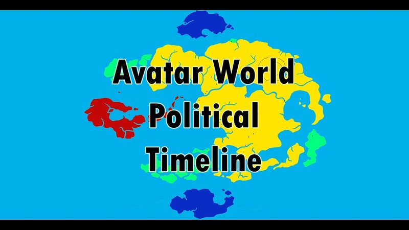 Political Map of The world of avatar throughout the years Kyoshi Korra HD