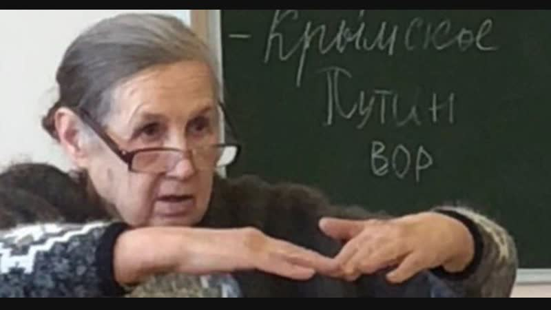 В Красноярском крае, школьники написали на доске путин - вор. Посмотрите чем отличается поколение рабов и стукачей от поколени