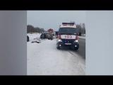 Очевидец снял на видео последствия страшной аварии в Новосибирской области