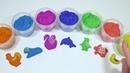 Забавные животные из кинетического песка Звуки животных Учим цвета на английском видео для детей