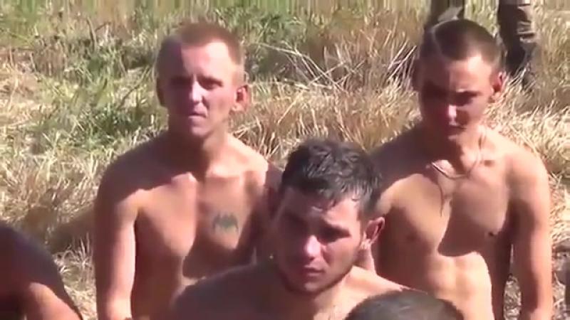 Пленные украинские каратели под Иловайском 30 08 2014