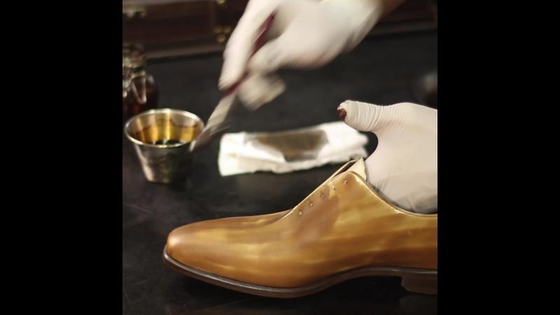 Обувь ручной работы - патина