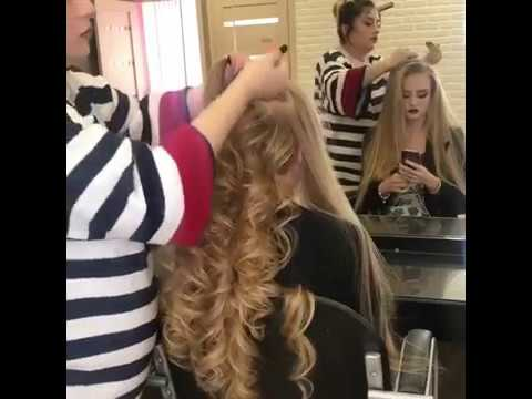 Эффектная прическа на длинные волосы
