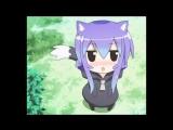 аниме девочка кошка