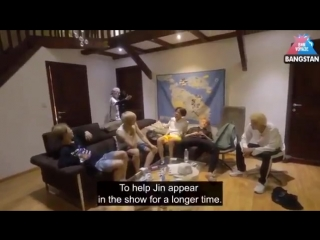 Does taehyung always tease seokjin then act cute for him or is that his job -