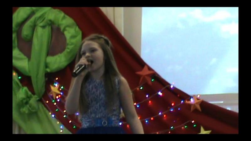 Моя ученица Валерия Курилович на конкурсе париотической песни Память сердца - 2018...
