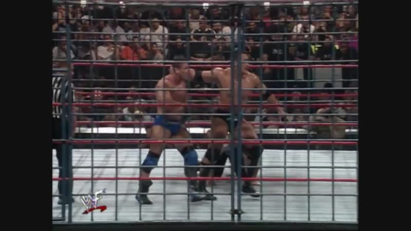 The Rock Vs Mankind Vs Ken Shamrock - No. 1 Contenders Triple Threat Steel Cage Match For WWF Championship - In Your House 24; B
