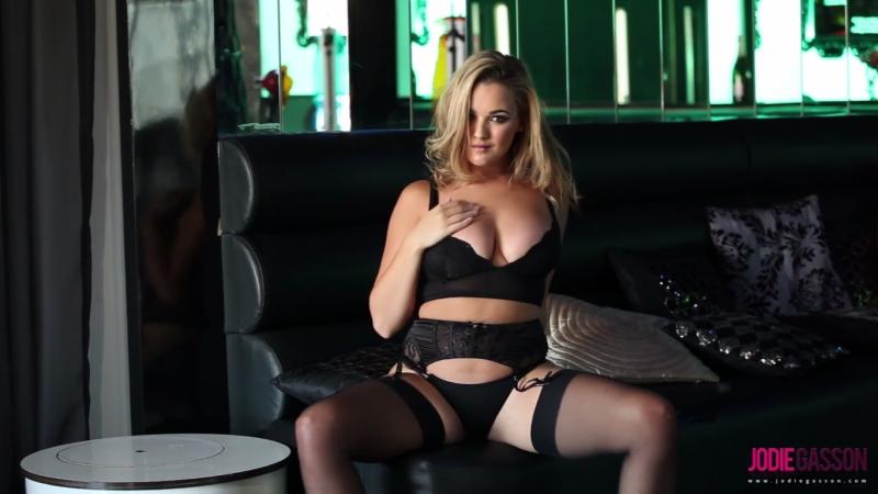 Jodie Gasson british lady in black lingerie