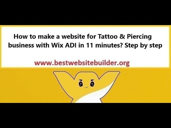 How to make a website for Tattoo Piercing business with Wix ADI in 11 minutes? Step by step