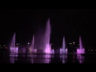 Поющие фонтаны хатирджил, дакка (hatirjheel singing fountains, dhaka)
