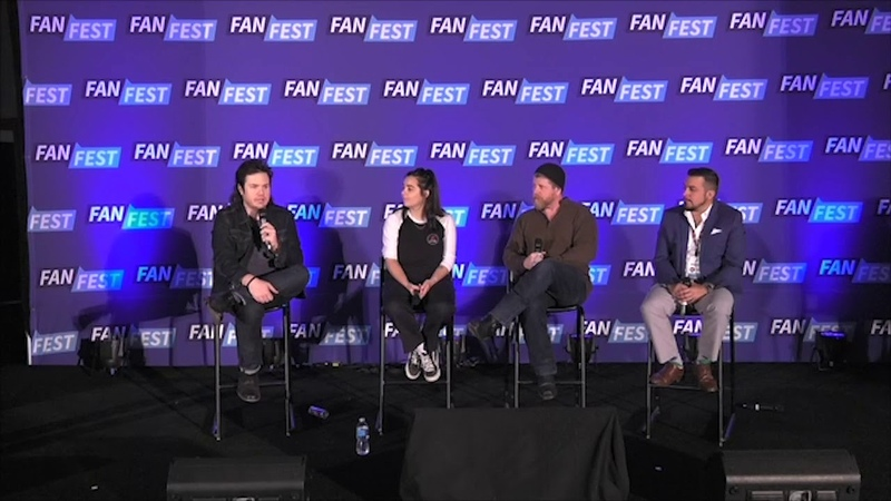 The Walking Dead Michael Cudlitz, Alanna Masterson, Josh McDermitt (WSC Chicago 2017)