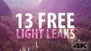 Premiere Pro Custom Light Leaks 13 FREE 4K Light Leaks