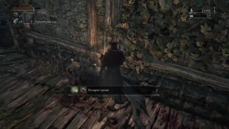 [Дмитрий Бэйл] Прохождение Bloodborne: Порождение Крови — Часть 14:Мини-БОСС: Громовое Чудовище-Кот.Пушка