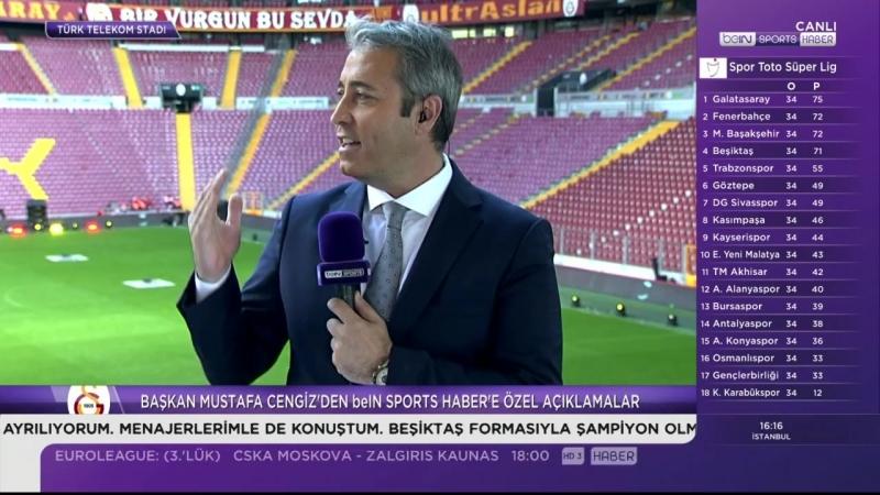 Başkan Mustafa Cengiz Beinsport Özel Açıklamalar 13