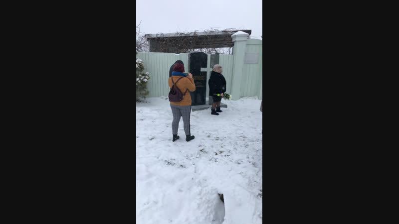 Установка памятного Креста у дома- музея Распутина в селе Покр