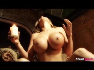 Gemma massey dripping hot candle wax .mp4
