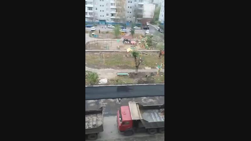 Ремонт двора на ул. Комарова 27/6 Омск