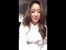 180525 Eunjung Instagram Live 1