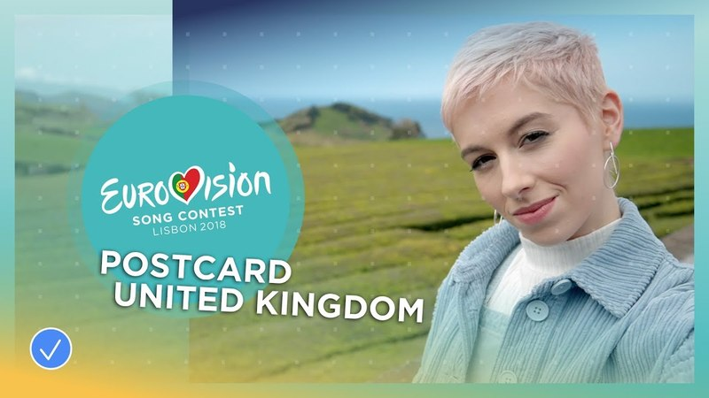 Postcard of SuRie from the United Kingdom - Eurovision 2018