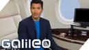 First Class Flug für 250 Euro statt 20.000 Euro Reisen wie die Superreichen Galileo ProSieben