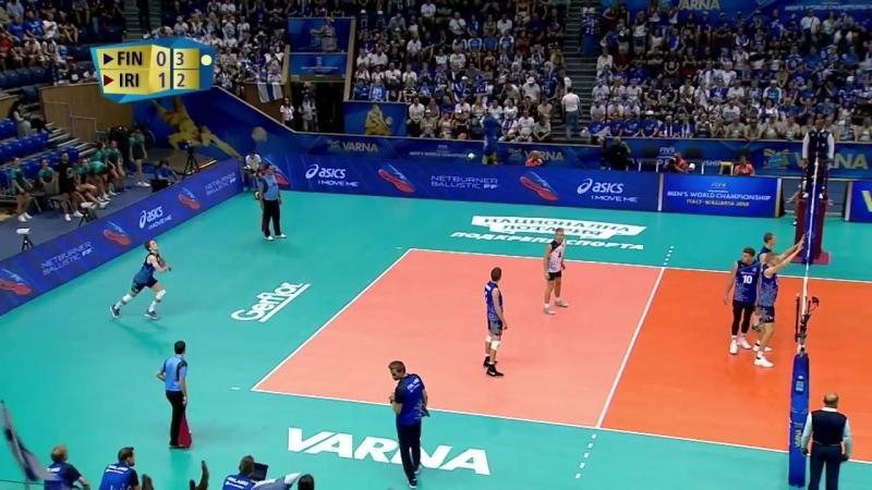 18.09.2018. 16:55 - Волейбол. Чемпионат мира. Мужчины. 5 тур. Группа D. Финляндия - Иран