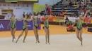 Сборная России в групповых упражнениях 3 мяча 2 скакалки многоборье Чемпионат Европы 2018