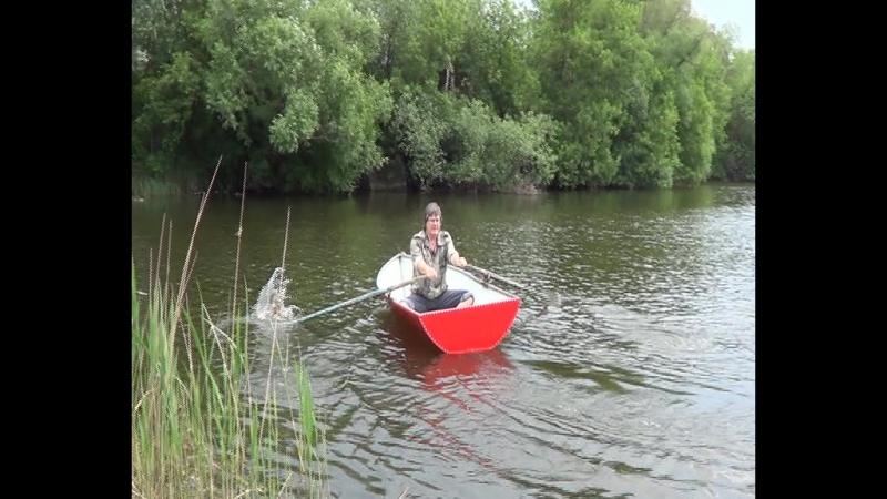 испытания гребной картоп лодки