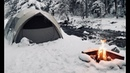 Winter Car Tent Camping in Snow - How To Stay Warm