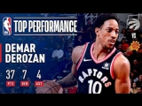 DeMar DeRozan Scores 37 Pts in Victory Over the Suns December 13, 2017